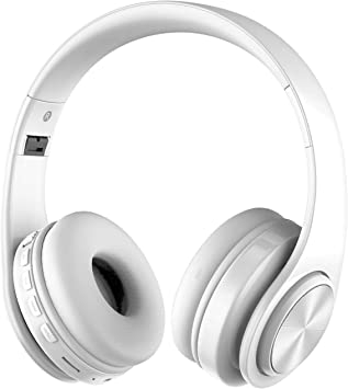 Alitoo Auriculares Bluetooth Inalámbricos,Wireless Over Ear Headphones Estéreo Plegables con Micrófono Cancelación de Ruido Diadema para Computadoras portátiles, Tabletas, PC, Smartphone,TV(Blanco): Amazon.es: Electrónica