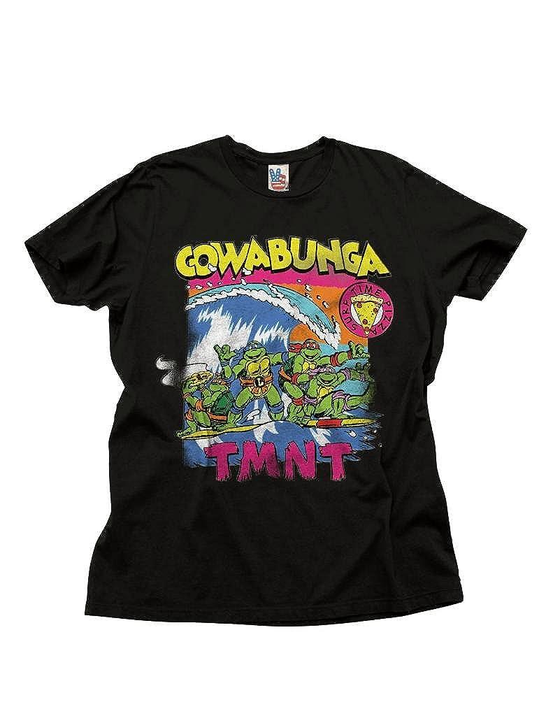 Junk Foode las Tortugas Ninja Cowabunga Surf Adultos Negro T ...