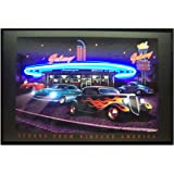 Amazon Com Neonetics Route 66 Diner Neon Led Lighted Framed Vintage Advertisement Wall Art Prints Posters Prints
