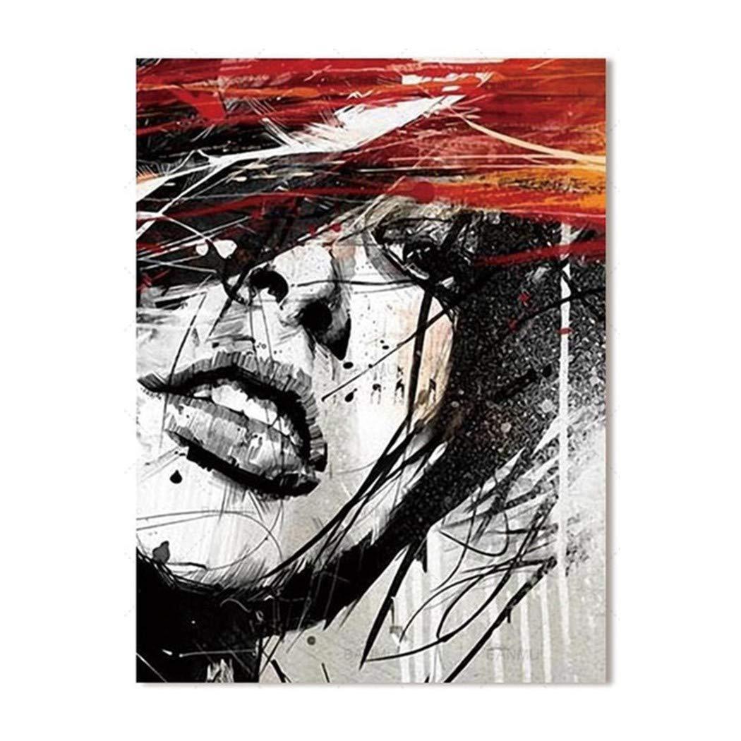 XIANRENGE 100% Reines Handgemaltes Ölgemälde Frau Gesicht Porträt Abstrakter Menschlicher Körper Kunst Bild Wohnzimmer Wohnkultur 80×140Cm