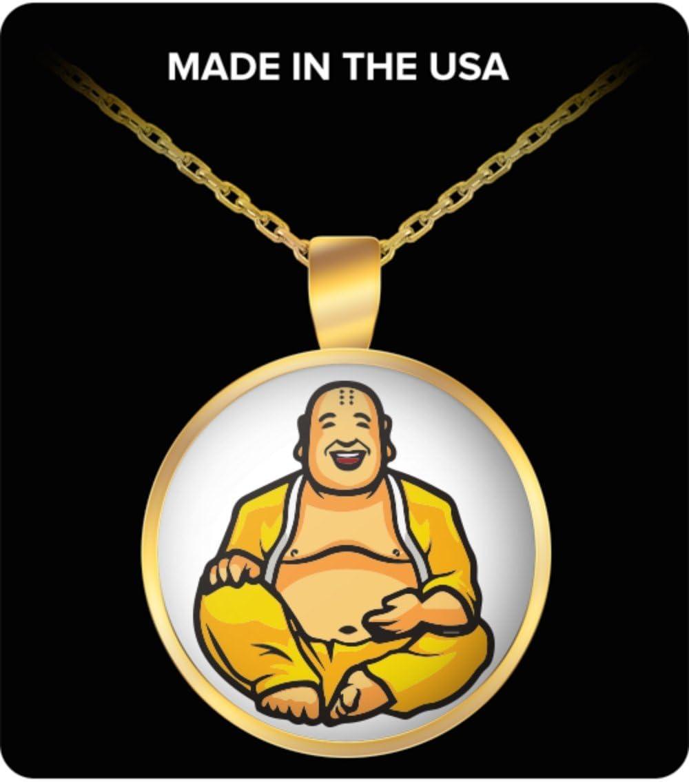 Collar – sonriente de Buda budista colgante encanto joyas ...