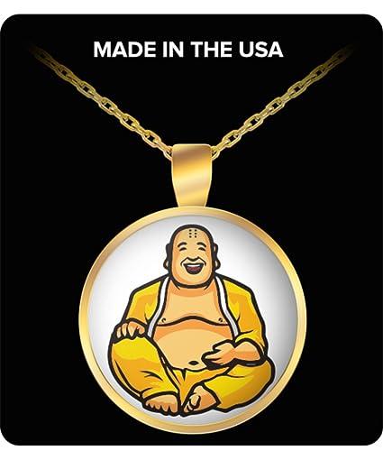 Amazon Happy Buddha Necklace Laughing Buddhist Pendant Charm