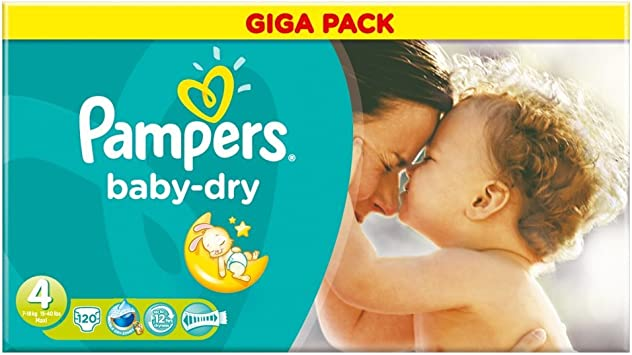 Pampers Baby Dry S4 Giga BD – Pack de 120: Amazon.es: Salud y cuidado personal