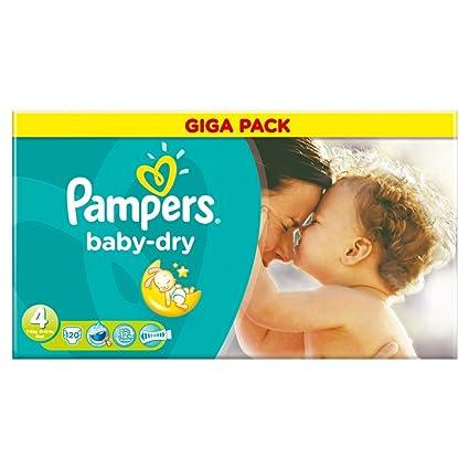 Pampers Baby Dry S4 Giga BD – Pack de 120