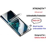 XTRENGTH's Advanced (Pack of 2) Unbreakable PET Film Screen Guard / Screen Protector Designed for Samsung Galaxy Note 9 ( Ultra Thin, Anti Scratch, Anti Fingerprint) (For Samsung Galaxy Note 9 Front Pack of 2)