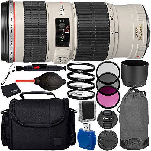 Canon EF 70-200mm f/4L IS USM Lens Bundle with Manufacturer