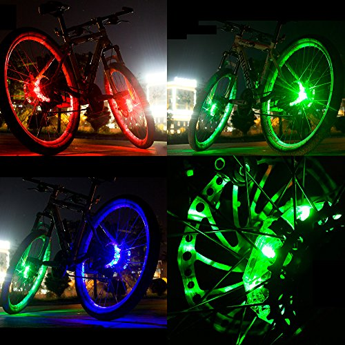 Alritz Rechargeable Bike Wheel Hub Lights, Waterproof 3 Modes LED Cycling Lights, RGB Colorful Bicycle Spoke Lights for Safety Warning and Decoration (Wheel Light for 1 Wheel) by Alritz (Image #7)
