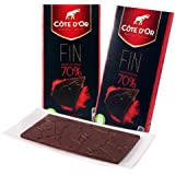 Cote D'or 克特多金象 70% 可可黑巧克力-排装100g*2(比利时进口)