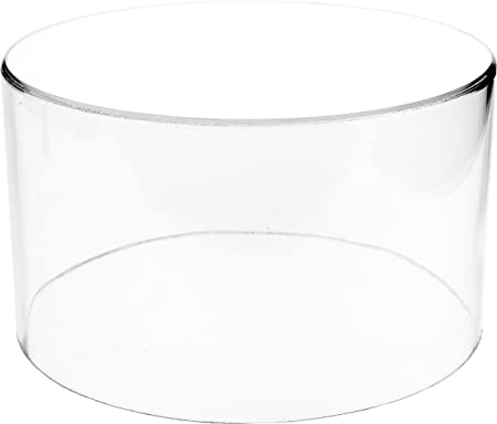 Plymor Clear Acrylic Round Cylinder Display Riser, 6 H x 10 D