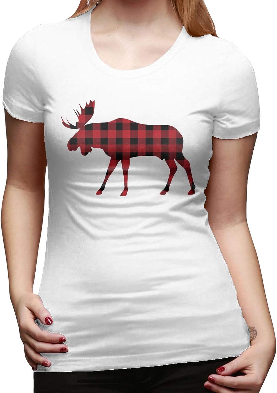 Clásico algodón búfalo Plaid alce rojo negro de las mujeres ...