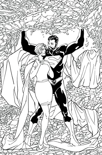 SUPERMAN LOIS AND CLARK #4 ADULT COLORING BOOK VAR ED