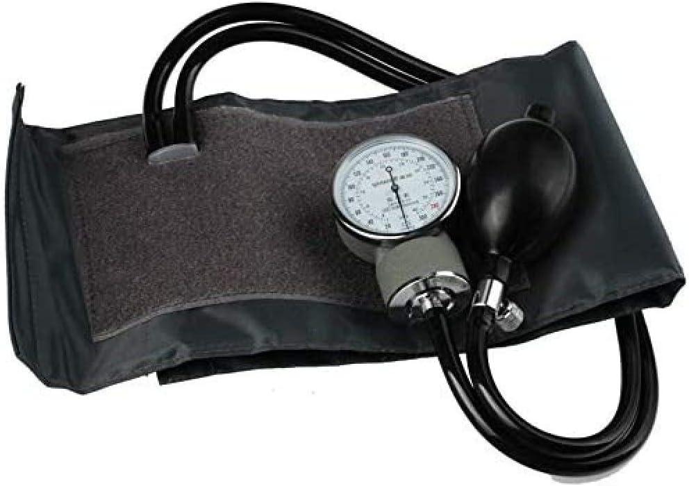 SluoYi Estetoscopio funcional, esfigmomanómetro aneroide, monitor de presión arterial, bombilla de goma, puño, dispositivo de auscultación DUZG