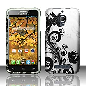 Black Orchid Vines Case + Atom LED for Alcatel OneTouch Fierce (T-Mobile, Metro PCS)