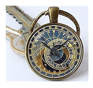 Llavero del reloj astronómico de Praga estilo steampunk ...
