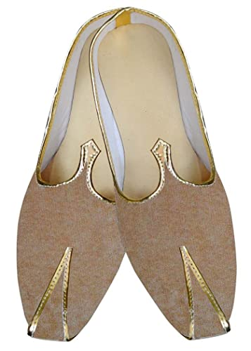 Mens Beige Wedding Shoes Traditional MJ013136