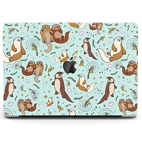 Wonder Wild Case for MacBook Air 13 inch Pro 15 2019 2018 Retina 12 11 Apple Hard Mac Protective Cover Touch Bar 2017 2016 2015 Plastic Laptop Print Cute Otter - Laptop Case Otter