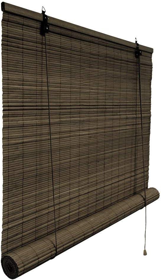 Victoria M. - Klemmfix Persiana Estor de bambú para Interiores 80 x 220 cm, Color marrón Oscuro - Montaje sin perforación: Amazon.es: Hogar