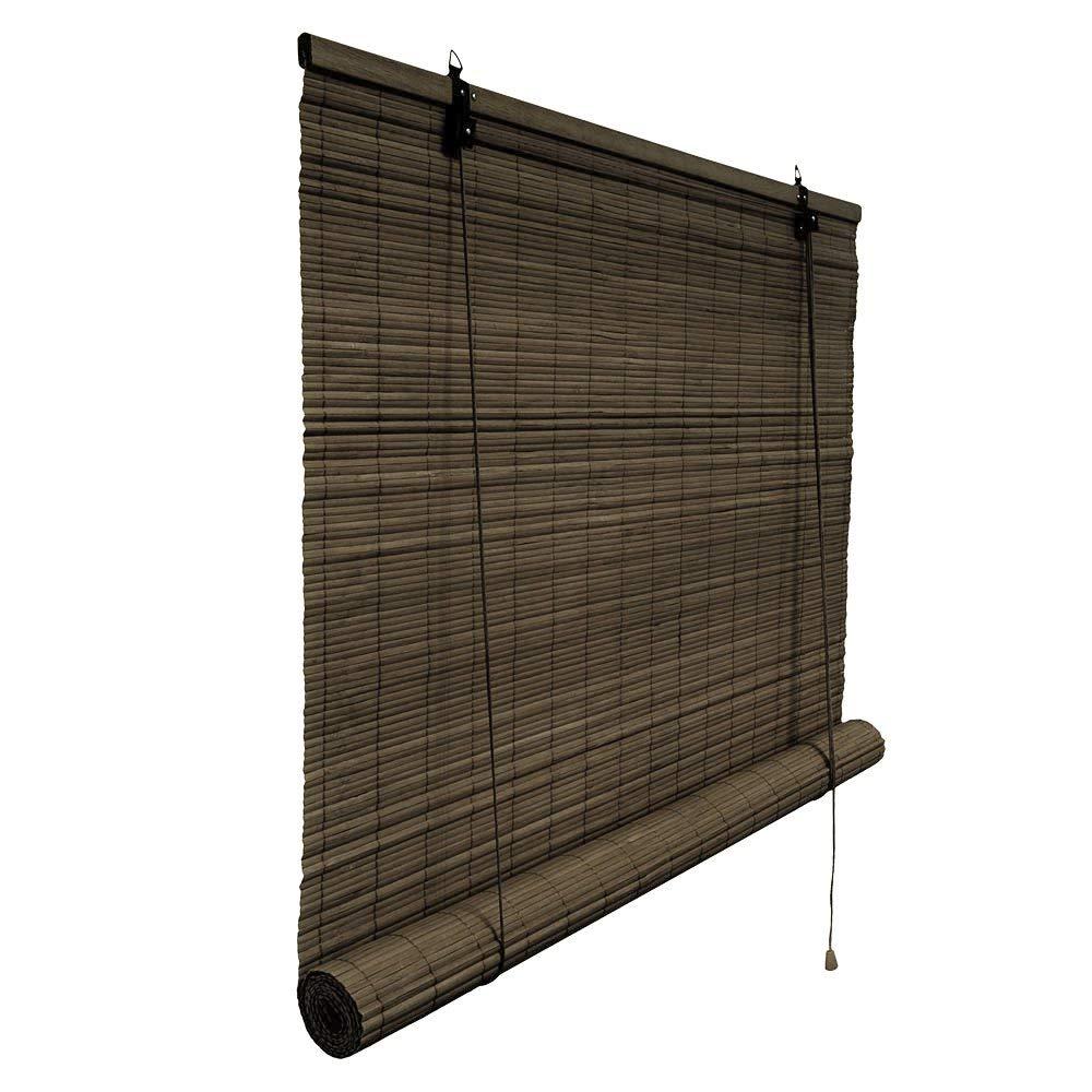 Victoria M.. - Persiana de bambú para Interiores, Color marrón Oscuro, tamaño