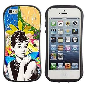 "Hypernova Slim Fit Dual Barniz Protector Caso Case Funda Para Apple iPhone SE / iPhone 5 / iPhone 5S [Actriz Foto Hollywood estrellas 60'S""]"