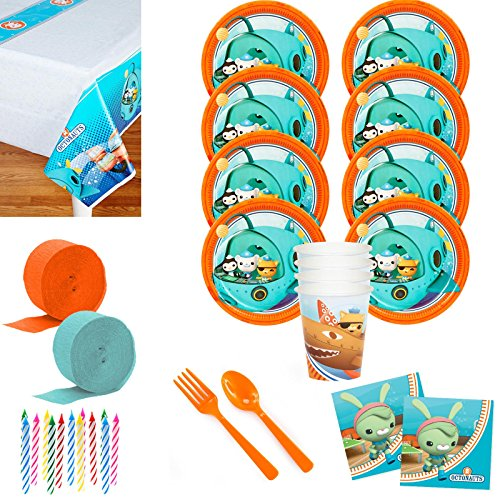 Costume SuperCenter The Octonauts Deluxe Tableware Kit (Serves 8) -