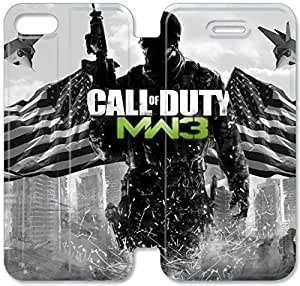 Klreng Walatina® Funda iPhone 6 6s Plus 5.5 pulgadas Funda de cuero Call Of Duty Y2Q6Tg