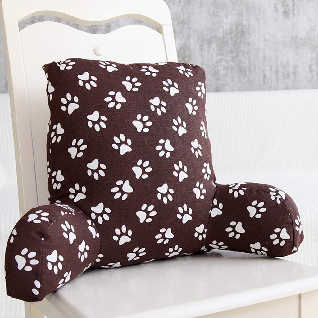 D 534220cm LAAN Waist Cushion, Office Car Seat Relax Waist Pillow Sofa Bed Heightened Backrest Washable Lumbar