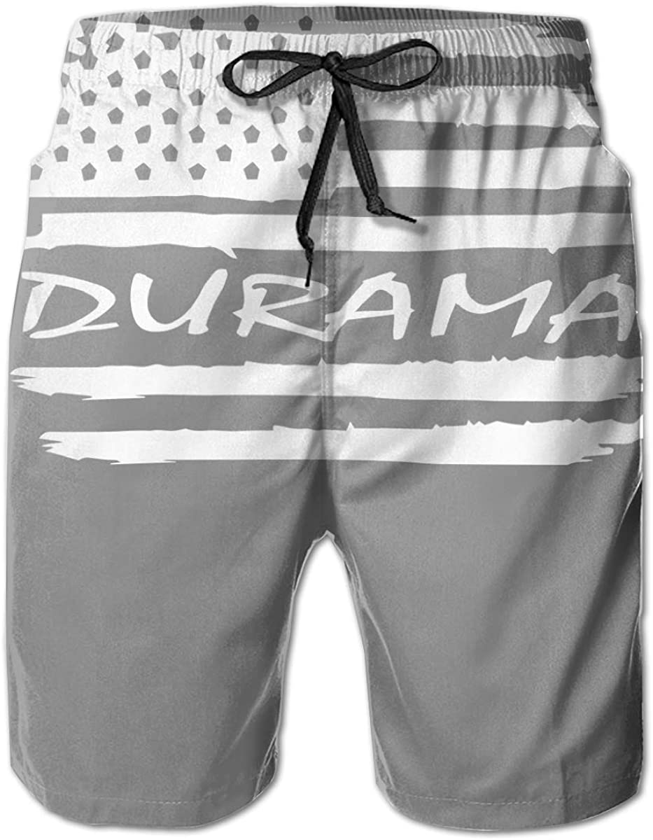 TUHUO Man Board Shorts Swimtrunks American Flag Duramax Quick Dry Sports Beach Summer Outfit Pants
