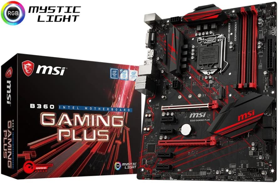 MSI Performance Gaming Intel Coffee Lake B360 LGA 1151 DDR4 Onboard Graphics CFX ATX Motherboard (B360 Gaming Plus)