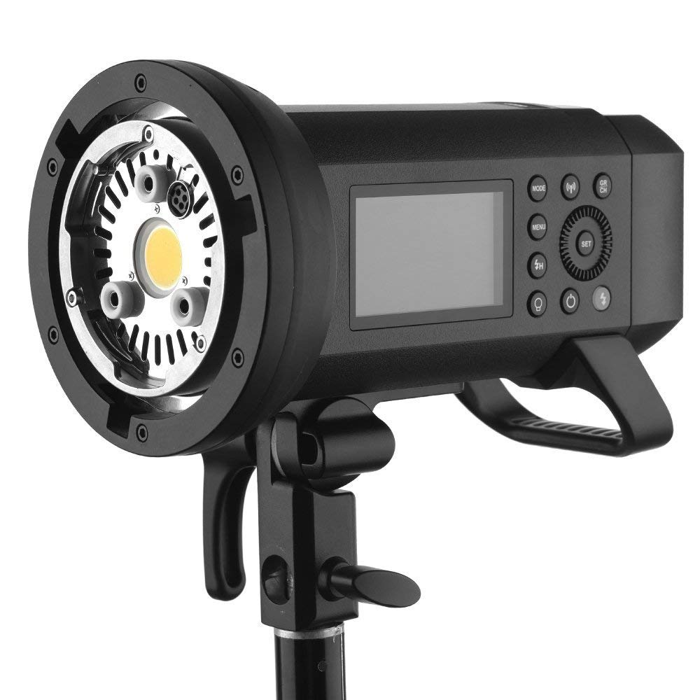 Godox AD400Pro Witstro All-in-One Outdoor Flash 400ws Strong Power,0.01~1s Recycle Time,12 Continuous Flashes in 1/16 Power Output,30w LED Modeling Lamp,390 Full Power Pops,Stable Color Temperature by Godox (Image #8)