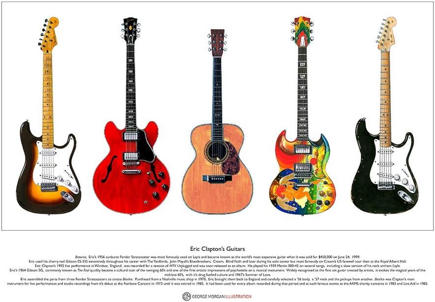 George Morgan Illustration Las Guitarras de Eric Clapton Edición ...