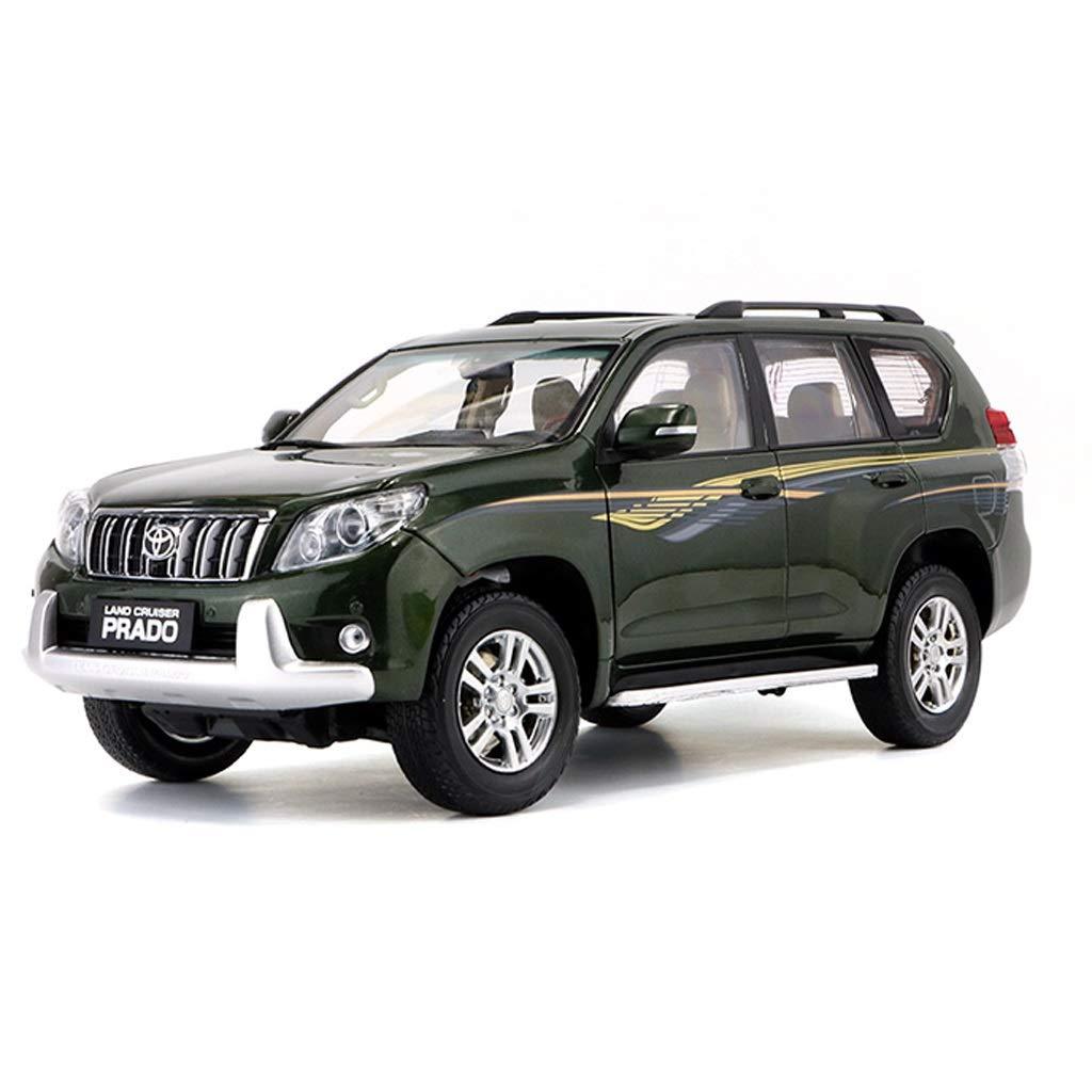 GAOQUN-TOY 1:18 Toyota Dominant Le modèle de Voiture de Simulation de véhicule Hors Route en Alliage Prado VX 2015 (Couleur : Vert, Taille : 27cm*11cm*11cm)