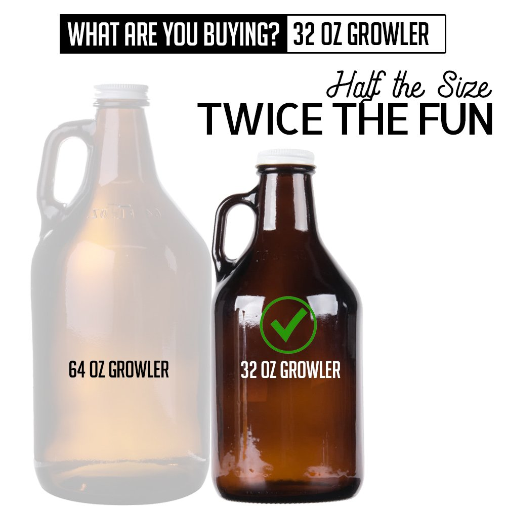 Personalized Etched 32oz Amber Glass Growler by Spotted Dog Company (Image #3)