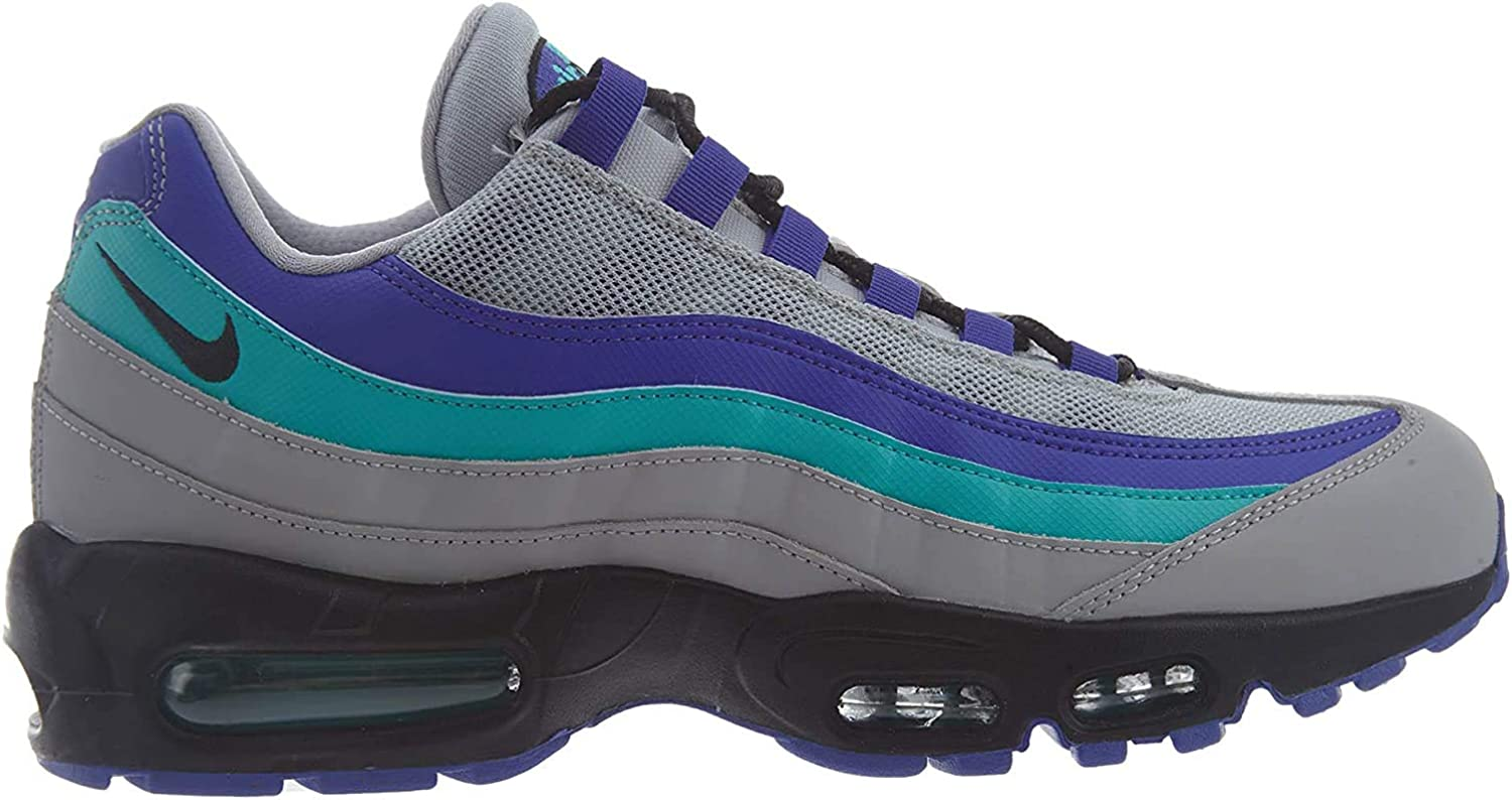Nike Air MAX 95 OG, Zapatillas de Deporte Unisex Adulto, Multicolor (Wolf Grey/Black/Indigo Burst/Hyper Jade 001), 48.5 EU: Amazon.es: Zapatos y complementos