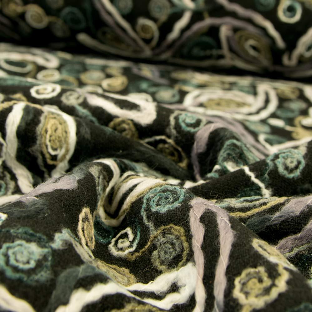Tela de abrigo cosida de lana patr/ón de tela de moda gris precio por 0,5 metros