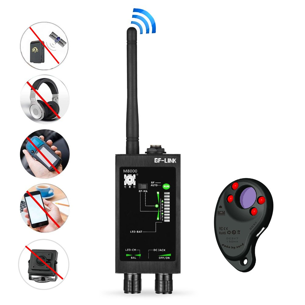 RF Signal Detector GPS Tracker Finder Camera Scanner Detectors Anti Spy Bug Betector Lens CDMA GSM Device Finder Monitor by CHHLIUT