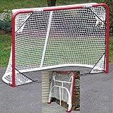 EZGoal Monster Steel Tube Heavy-Duty Official Regulation Folding Metal Hockey Goal Net, 6 x 4 - Feet, Red