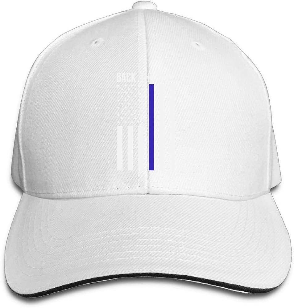 JustQbob1 Back The Blue Thin Blue Line Flag Outdoor Snapback Sandwich Cap Adjustable Baseball Hat Dad Hat