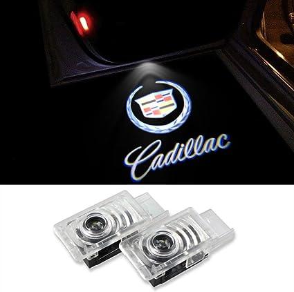 Lyauta - 2 luces LED para puerta de coche con logotipo de ...
