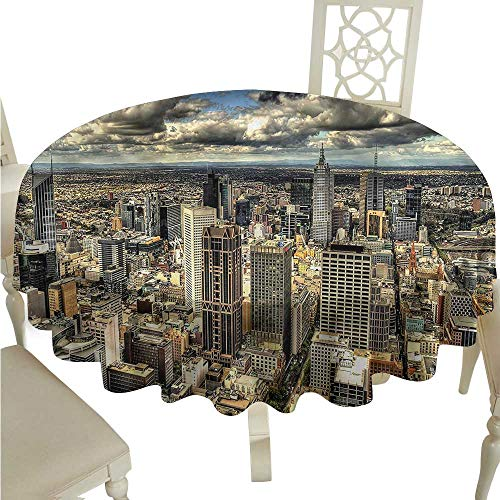 crabee Party Table Cover Urban,Melbourne City Australia,Modern Washable Tablecovers
