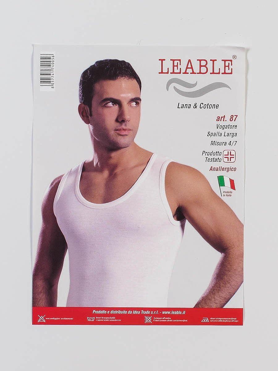 Liabel 3 Vogatore Spalla Larga Interno Lana e Cotone sulla Pelle Bianco Art.5122//223