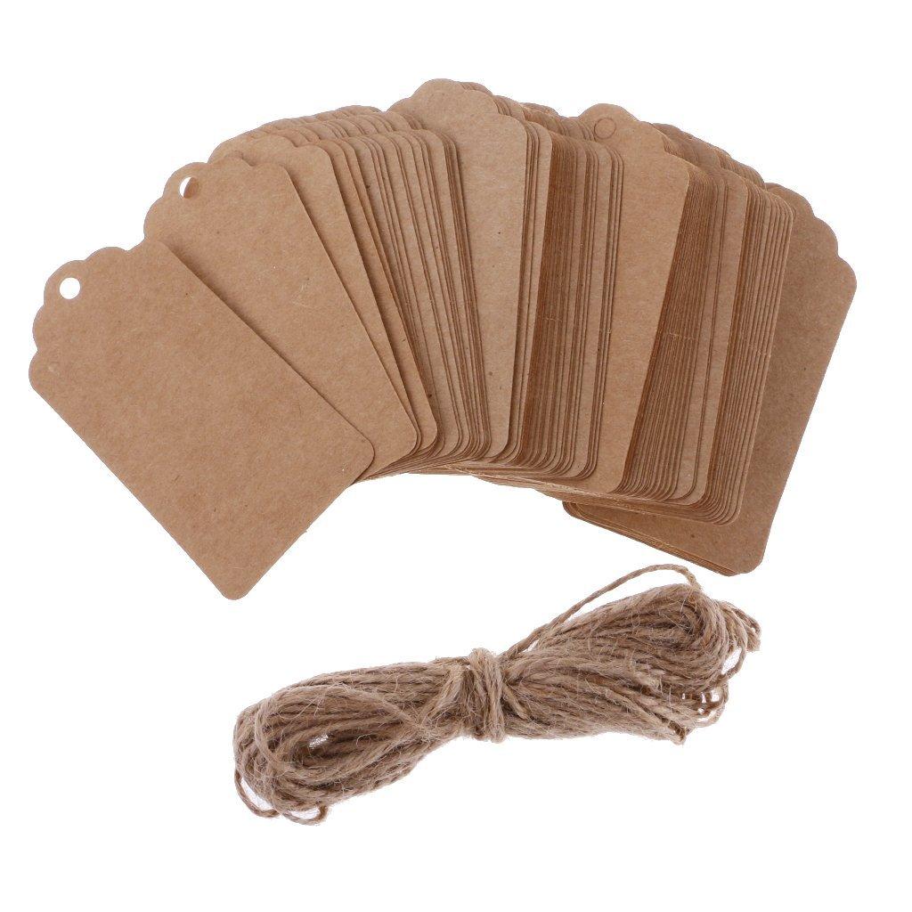 Tubayia Lot de 100 pendentifs en Papier Vintage d/écapsuleur pour Mariage f/ête Porte-cl/és