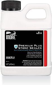 More Premium Plus Stone Sealer Protector for Countertops - Natural Stone, Marble, Granite Surfaces - Advanced Formula (Pint / 16oz)