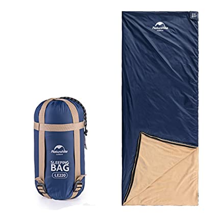 Tentock Ultralight Coral Velvet Sleeping Bag Compact Envelope Sleeping Bag with Compression Sack for Camping Hiking Travelling Outdoor Activities Spring ...