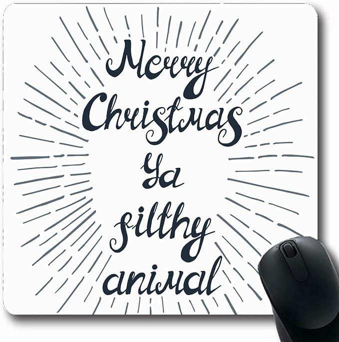 Luancrop Alfombrillas Vintage Asqueroso Cita de Navidad ...