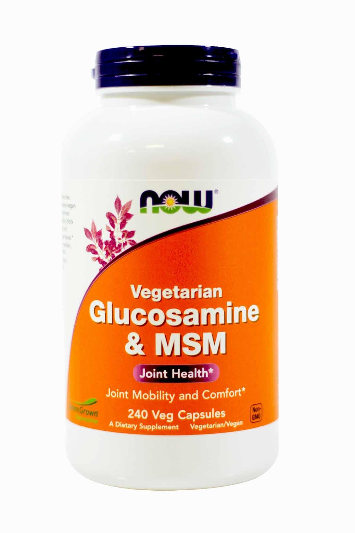 NowFoods Vegetarian Glucosamine & MSM Joint Health 240 Veg Capsules