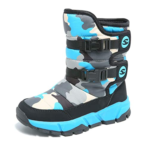 Stivali da Neve Bambini Inverno Stivaletti Ragazza Ragazzi Blu 28. Scorri  sopra l immagine per ingrandirla d87453f23b8