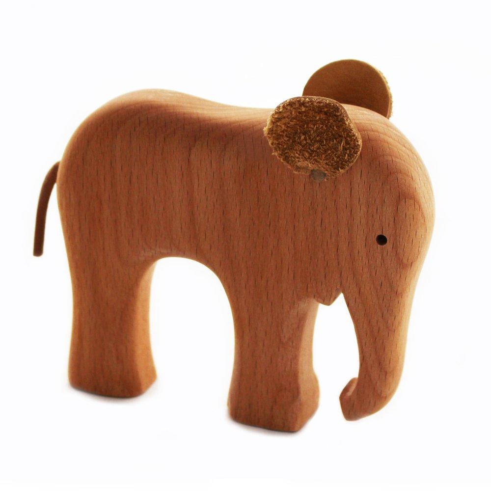 Elefant Greifspielzeug aus Holz | Holzspielzeug | natü rliches Spielzeug | Handarbeit