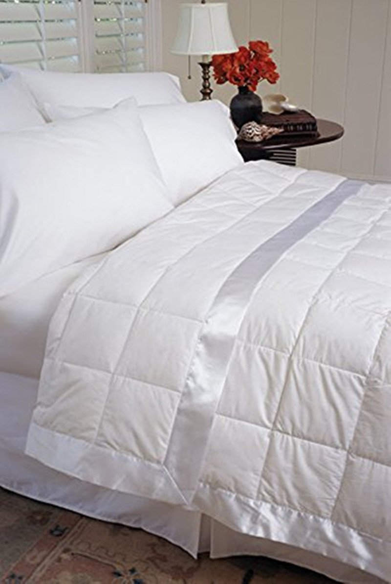 233TC 100% Cotton down alternative Blanket (King, White)