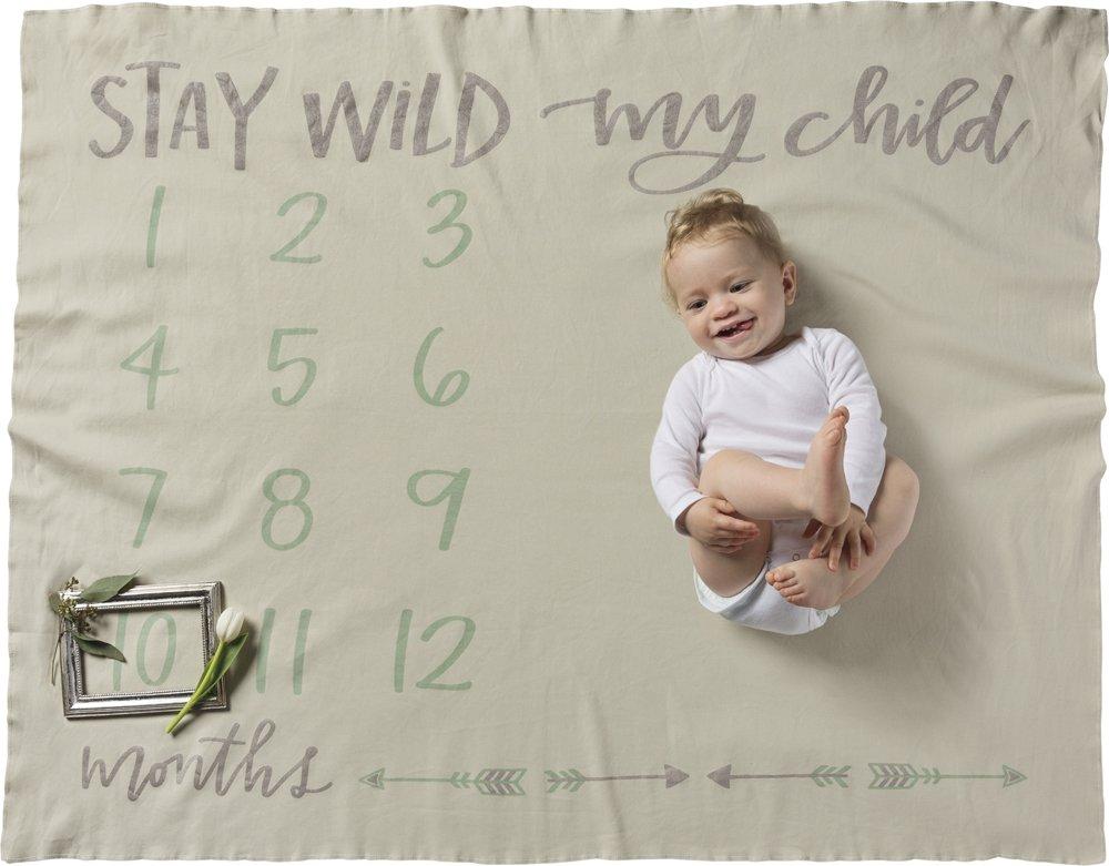 Swaddle Blanket - Stay Wild My Child