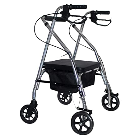 CHTG - Andador de Paseo de 120 kg, con 4 Ruedas, Cesta ...